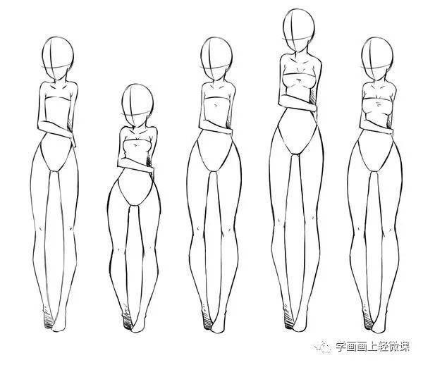 动漫人体结构_「推荐」动漫人物身体结构画法之女性