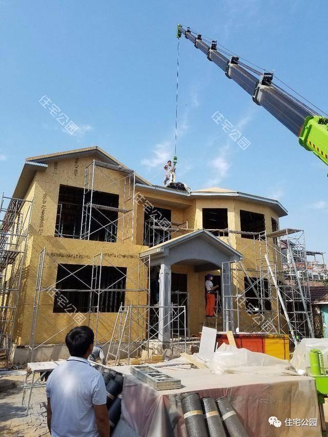 北京农村自建轻钢别墅,每平造价仅1500,你还要建落伍的红砖房?图片