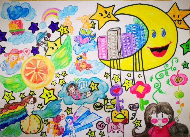 儿童科幻画主题创新体验成长 关于创新成长体验的画图片