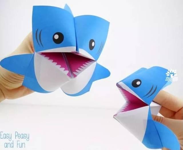 角色扮演游戏需要很多小玩偶,有趣的折纸鲨鱼正好派上用场