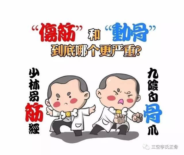 """【三空李氏正骨】""""伤筋""""和""""动骨""""到底哪一个更严重?让图片"""