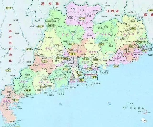 广东省各县市经济总量_广东省各县市地图高清