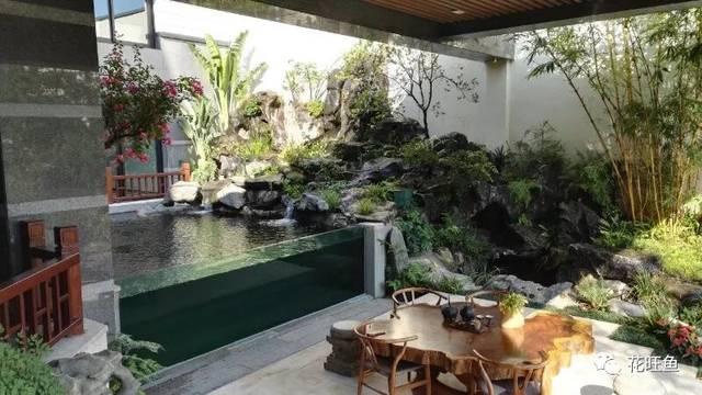 别墅鱼池设计图片