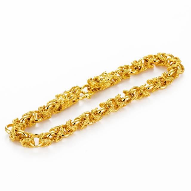 传统的手链不要带了,今年特流行带这样的金手链,招财还显档次图片
