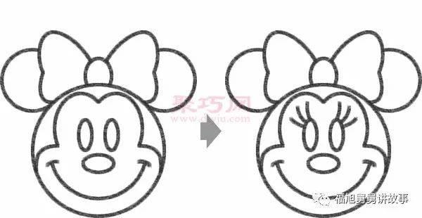 简笔画卡通人物大全 米老鼠米妮