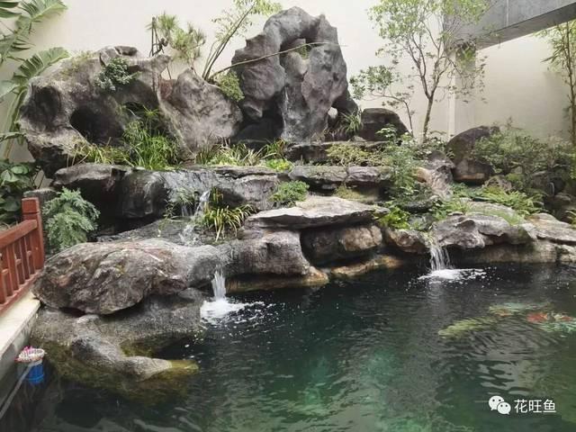 别墅鱼池风水位置图片