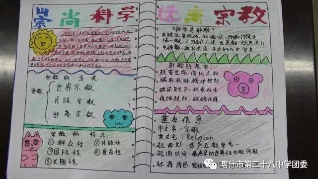 【学生活动】崇尚科学 远离邪教——手抄报