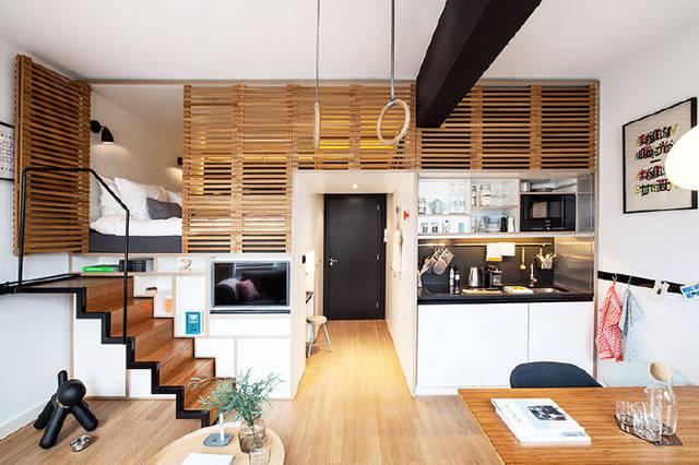 郑州梵客家装—橄榄城柏林印象40平米loft现代简约风格装修案例