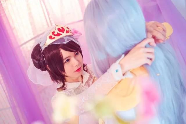 王者荣耀周瑜x小乔真爱至上cos,此刻做你最美的新娘!