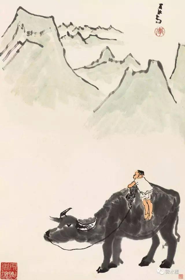 李可染画牛 如沐春风图片