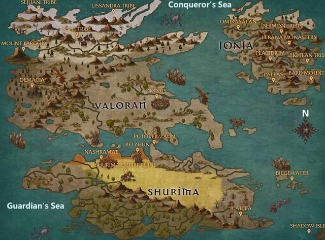 lol大神自制新版世界地图,美的我不想说话图片