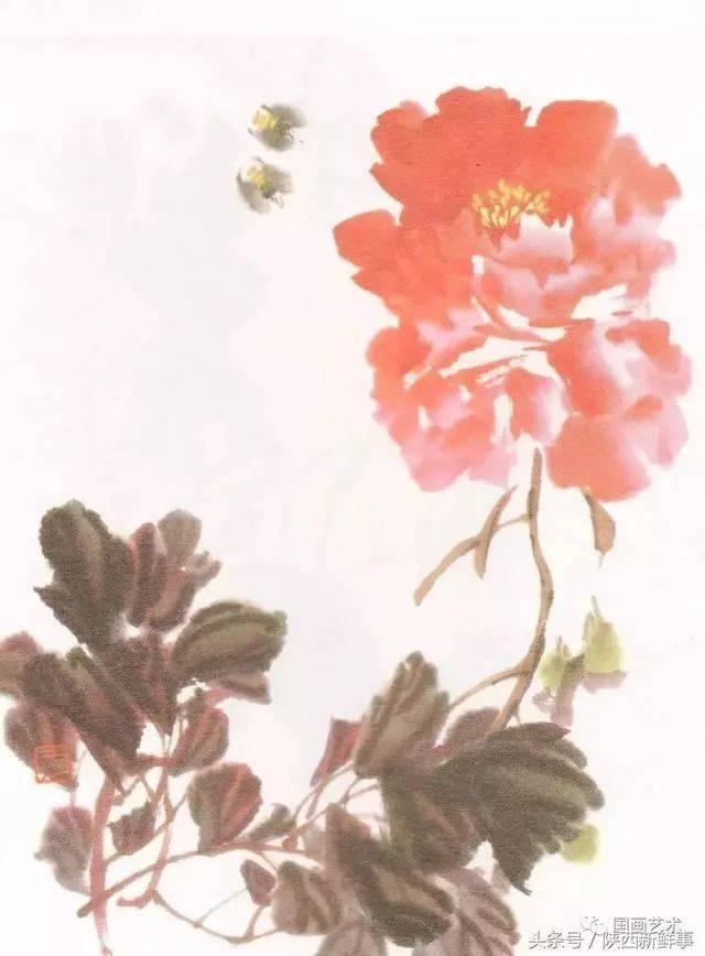 图文教程:写意牡丹叶子的画法图片
