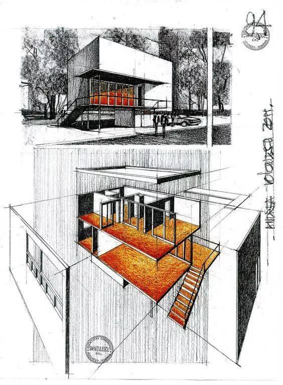 【筑·鉴】建筑手绘美图,够你临摹了!