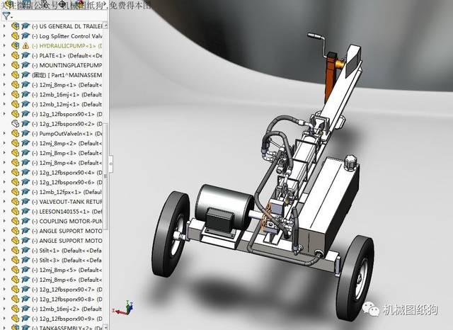 【工程机械】液压分配器模型3d图纸 solidworks设计