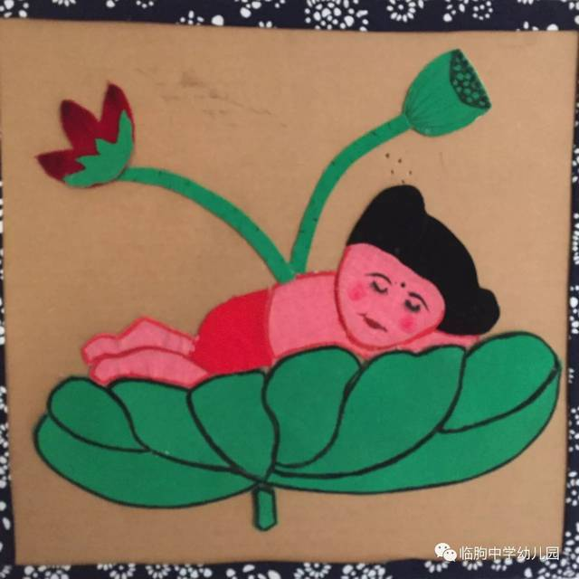 布言布语话民俗——临朐中学幼儿园教师布贴画作品展