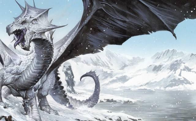 在dnd也就是龙与地下城的设定中,就有一条名为rime的白龙,同样是冰雪
