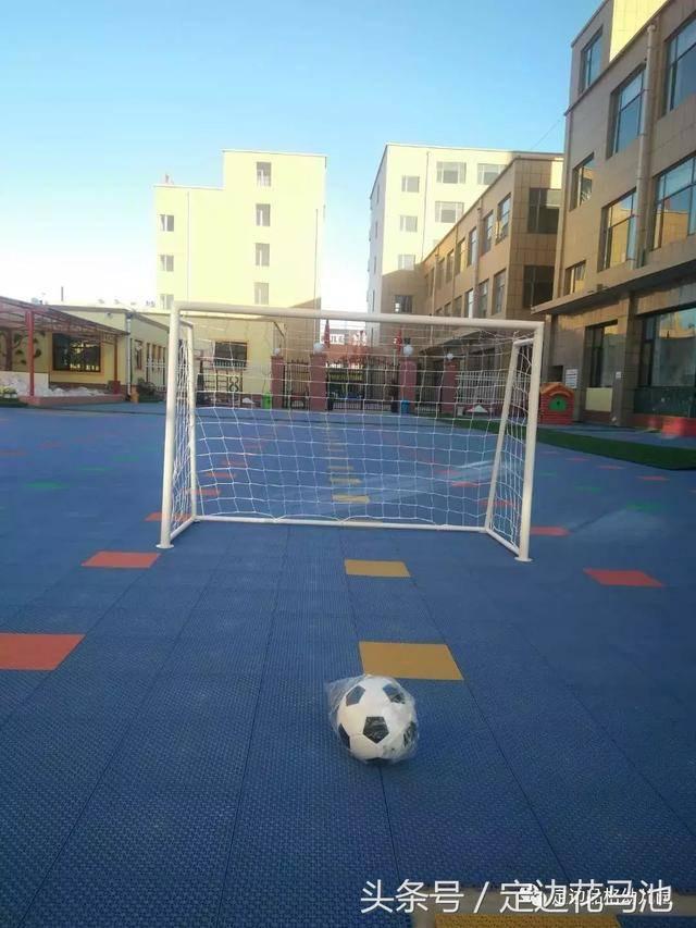 亿童户外游戏区和亿童足球运动课程走进品格幼儿园