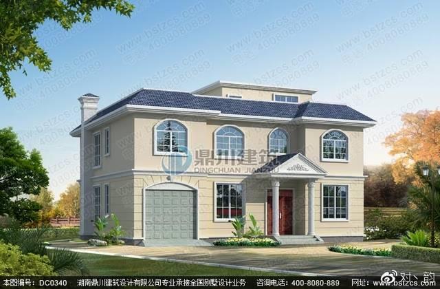 农村二层半带露台平屋顶房屋自建房设计图纸