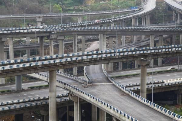 重庆史上最复杂的立交桥 导航哭了,司机疯了