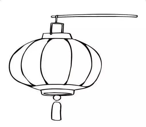 儿童简笔画:元旦春节灯笼绘画教程,几步就能画出节日感!