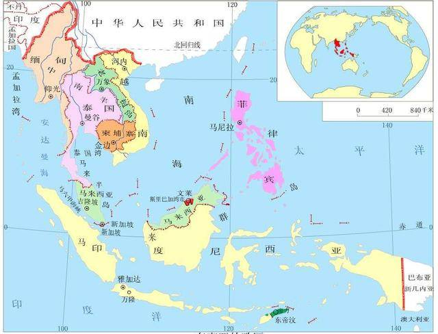 亚洲地理分区_亚洲的六大地理区域划分(一)