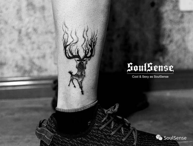 soulsense 纹身   没有麒麟臂,那就来个小腿纹身吧图片