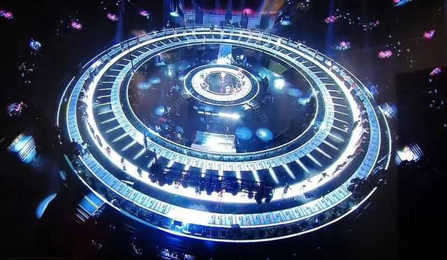 江苏卫视2018跨年演唱会舞台视觉揭面:360度全景巨型圆舞台!图片