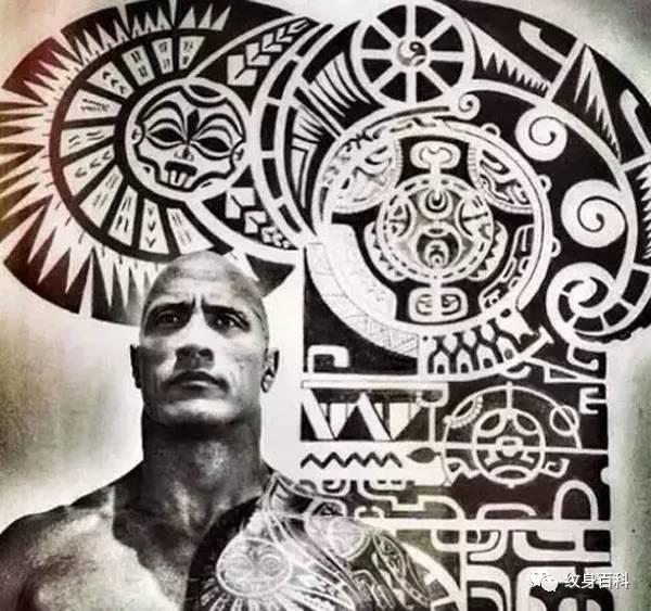 世界纹身文化解读:神秘的波利尼西亚萨摩亚传统纹身图片