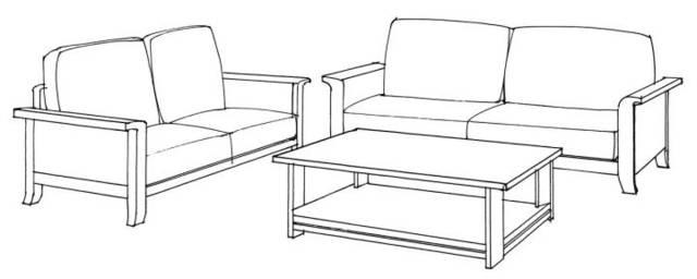 1 单体家具三视图练习 茶几平面