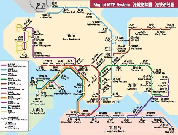 香港地铁_香港地铁图
