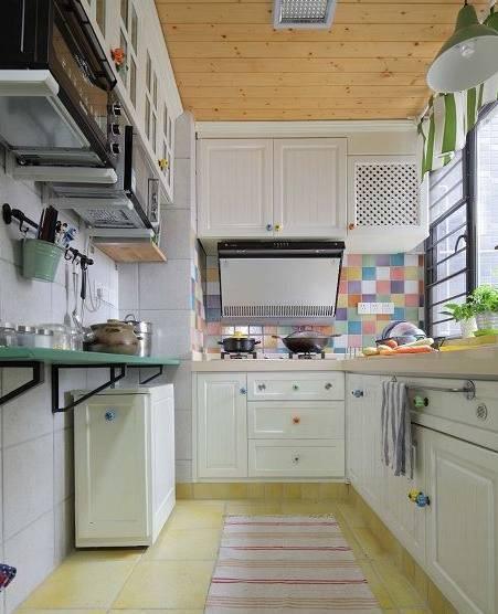1米宽阳台改厨房图,厨房改造装修
