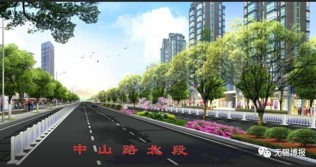 长1097米 改造后的道路红线宽40米,双向6车道 为城市主干路,设计车速