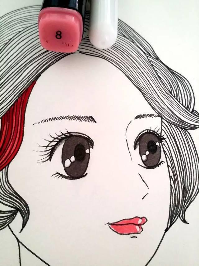 高光笔画手绘图片