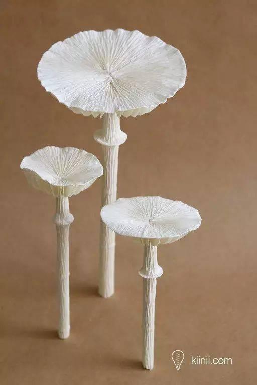 【蘑菇主题手工】手工纸艺教程 - 纸蘑菇制作教程和图纸分享
