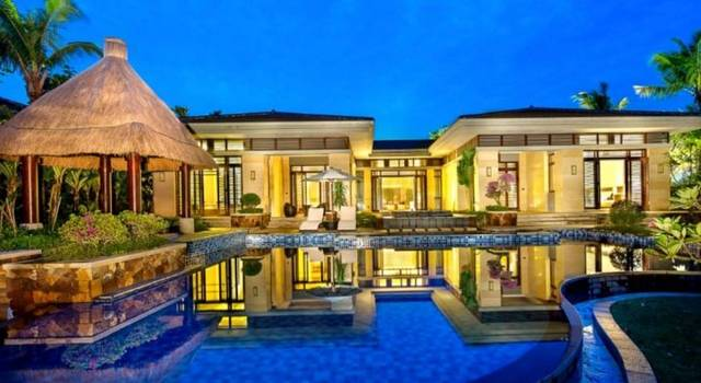 人均600就在三亚住海滨别墅!海底管家私人别墅买泽餐厅锦苑图片