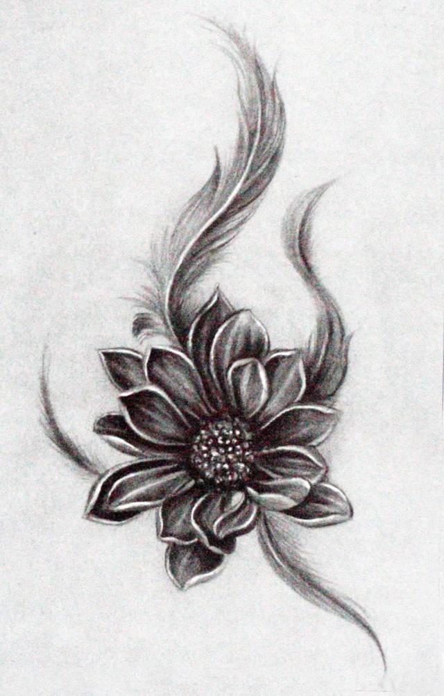 星影素材:如世莲华,在泥不染不为世法所污 高雅的圣莲纹身图片