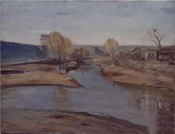 1957年 毕业创作《冬》 80×100㎝ 布面油画 中国美术馆馆藏图片