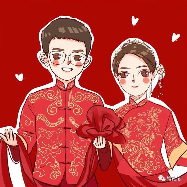 非常清新可爱 小犀姐还看到她一张 中式婚礼的作品 即使是礼服上面的