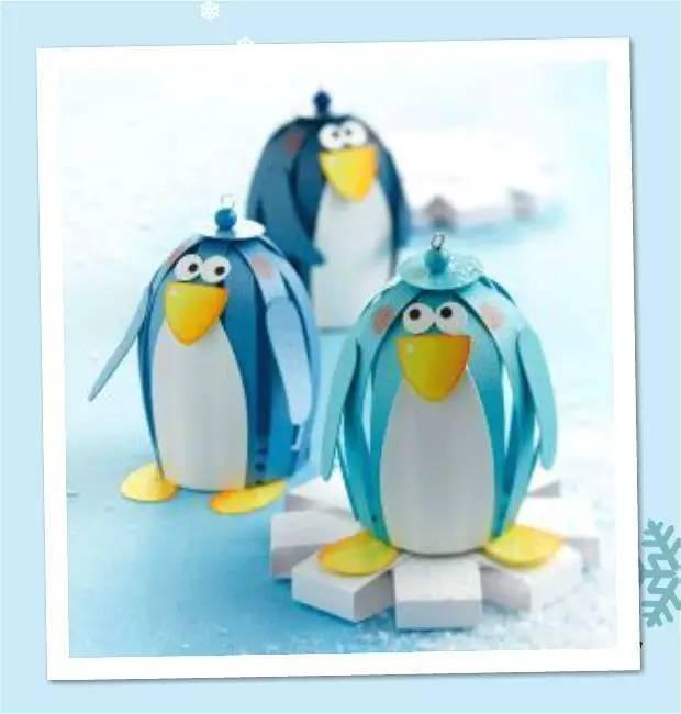 儿童手工制作小企鹅