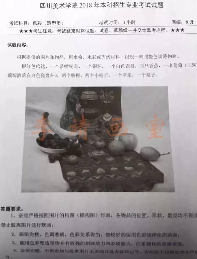石膏头像或人物头像 /李靖画室/ 2018川美校考贵州考点设计专业考题图片