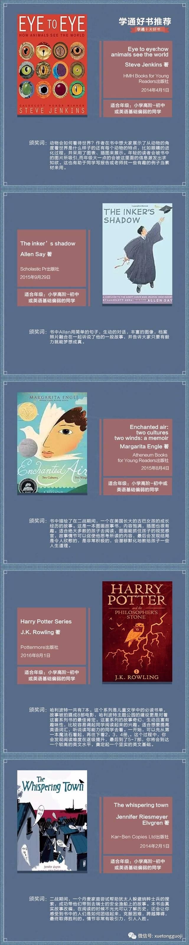推荐10本英文原版书,悄悄拉开孩子间的距离