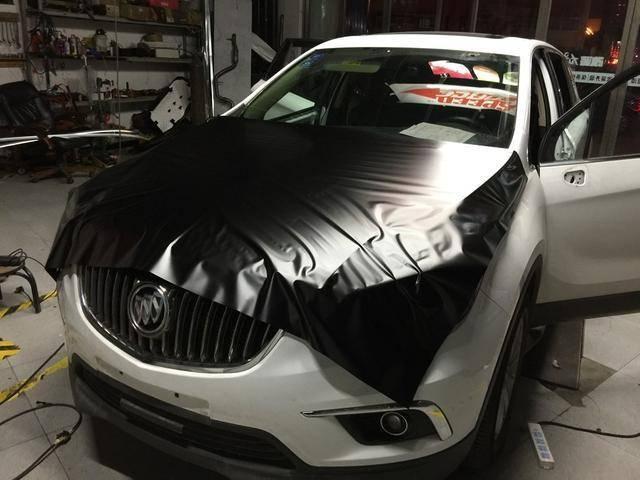 别克昂科威陶瓷黑汽车改色贴膜效果图