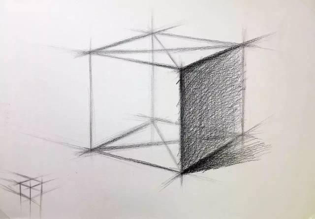 d : 排线后擦,就是点点说的先铺大调子确定黑白灰大关系,再用纸笔擦拭