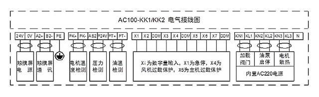空压机980a面板接线图