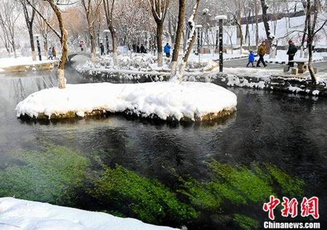 """乌鲁木齐一公园冬日美景似""""童话"""""""