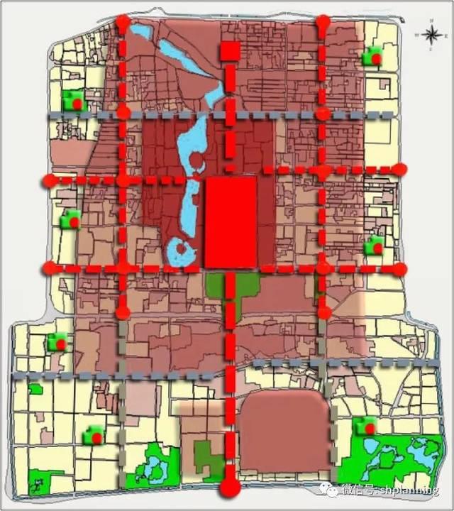 北京老城整体空间结构设想与历史街区的类型划分