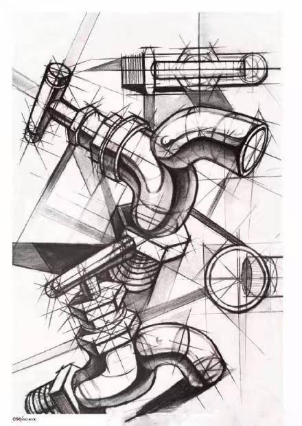 考查目标和要求: 考查考生对构图组织,体积结构,黑白灰层次及空间关系图片