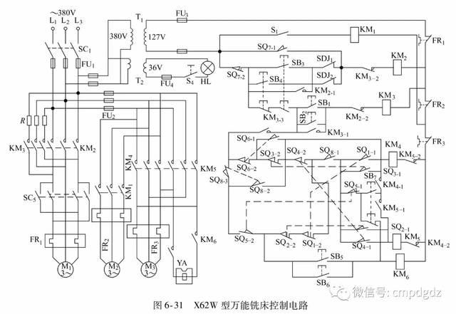 20.t68型卧式镗床控制电路