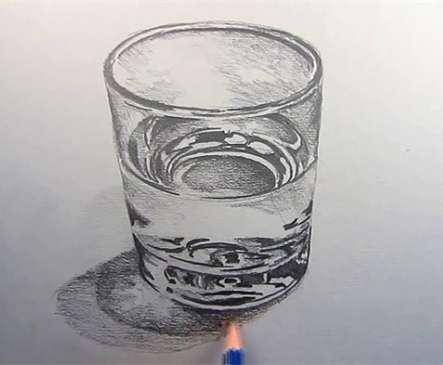 素描:素描教程玻璃杯的画法步骤图片