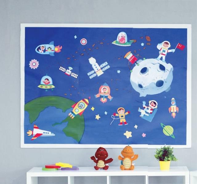 """学期末,不妨在幼儿园开展一次""""太空""""主题活动,不仅能够激发孩子们的"""